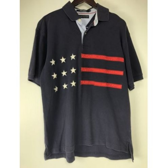 d9b2bea9 Tommy Hilfiger Shirts | Stars Stripes Polo Shirt | Poshmark